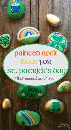 Kindness Rocks Project St Patricks Day Ideas patricks day painting for kids Painted Rock Ideas for St. Patricks Day- Just a Little Creativity Saint Patricks Day Art, St Patricks Day Crafts For Kids, St Patrick's Day Crafts, St Patricks Day Food, Holiday Crafts, Kids Crafts, Craft Projects, Diy St Patricks Day Decor, Summer Crafts