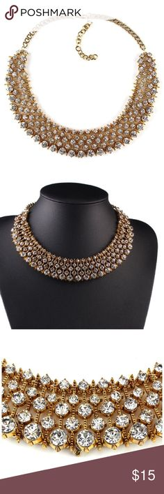 Huge sale 🎉Elegant gold diamond necklace High quality, gorgeous necklace /choker. Work once Topshop Jewelry Necklaces