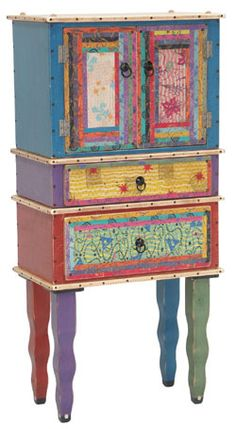 Colorful Whimsical Cabinet