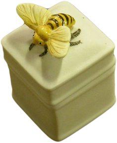 HomArt Porcelain Specimen 3D Square Box, Bee: