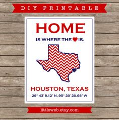 University of Houston Printable UH UofH by LittleWebWritingHood Texas Tech University, University Of Houston, Printable Art, Printables, Dorm Hacks, City Art, Wooden Signs, Lubbock Texas, Make It Yourself