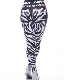 Zebra design leggings for fitness and other sports
