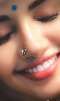 Most Beautiful Bollywood Actress, Beautiful Indian Actress, Indian Face, Wedding Couple Poses Photography, Girl Hiding Face, Anupama Parameswaran, Nose Jewelry, Most Beautiful Faces, Cute Girl Face