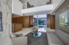 838 North Doheny Drive - Lobby Architecture and Interiors by OJMR-Architects, Inc.