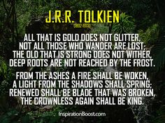 All That is Gold Does Not Glitter…The Crownless Again Shall be King | Musings of a Nerdy Girl - An analysis of this wonderful poem both in context of the series and in a general sense.
