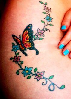 tatuagens de borboletas tinta na pele 44