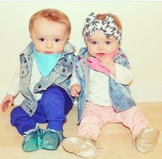 Opposite Twinnies Vest - Boy and Girl Twin Outfits Bringing Baby Home - twin baby outfit - twin boy girl outfit - boy girl twin outfit Boy Girl Twin Outfits, Twin Baby Clothes, Boy Girl Twins, Twin Boys, Twin Babies, Boy Or Girl, Baby Boy, Cute Twins, Cute Babies