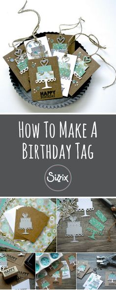 Complete your birthday gift wrapping in style with one of these handmade DIY gift tags. It's simple, easy and it really shows off your gift in style- handmade birthday- DIY papercraft - sizzix big shot ideas - sizzix ideas