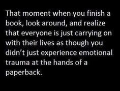 emotional trauma at the hands of a paperback ...
