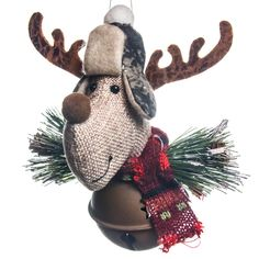 TREE $7.99 Moose with Jingle Bell Ornament | Woodland Christmas | Cracker Barrel Old Country Store - Cracker Barrel Old Country Store