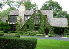 tudor style house   English Tudor and Castle Style House Plans
