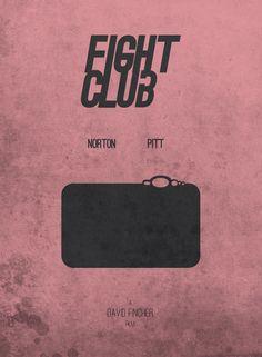 Fight Club (1999) ~ Minimal Movie Poster by Alessio Maisano #amusementphile