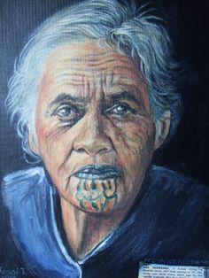 Maori lady with moko 3