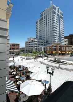 Virginia Beach Virginia Town Center - Bravo and the fountain