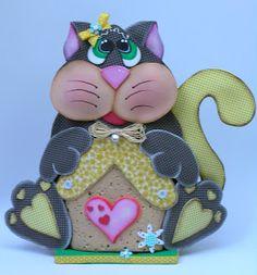 Peso de puerta goma eva gato