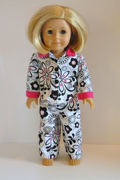 American Girl Doll Clothes Black and White Flower by CircleCSewing, $15.00