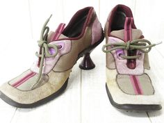 miu miu... a decade before those isabel marant wedge sneakers there were these, and these are so much cooler
