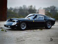 "vintageclassiccars: ""It´s black. "" and it's a Ferrari"