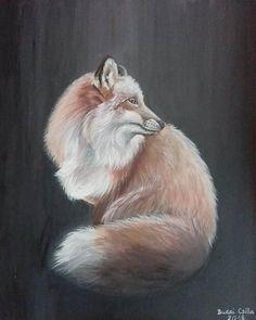 40 x 50 cm  Acrylic, canvas  #animal #fox #art #painting #acrylicpaint #acrylic #acryliconcanvas #canvas #instaart