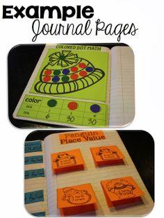 Winter Math Goodies!  Math journal and math centers