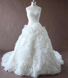 Hey, I found this really awesome Etsy listing at https://www.etsy.com/listing/216011090/ruffled-sweetheart-organza-ball-gown