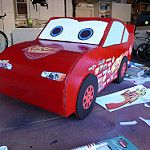 Our Daughters favorite movie is Disney's Cars Movie. So we thought it would be fun to make a Lightning Mcqueen costume. Cars Halloween Costume, Halloween Ideas, Lightning Mcqueen Costume, Disney Cars Movie, Car Themes, Toy Chest, 2nd Birthday, Birthday Ideas, Parties