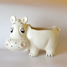 Vintage Ceramic Medium to Large Hippo Planter  by jeansdavenport, $45.00