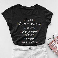 95791a2d Friends Tv Show T-Shirt Clothing Vintage Cotton Punk Tops Tee –  elegantonlinemarket