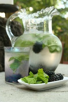 blackberry and mint infused water