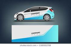 Immagine vettoriale stock 1168303900 a tema Car Decal Wrap Design Vector Graphic (royalty free) Slot Cars, Race Cars, Racing Car Design, Van Wrap, Porsche Cars, Rally Car, Car Brands, Stock Foto, Grafik Design