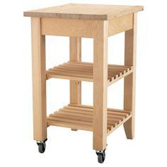 BEKVÄM Kitchen cart - IKEA $59.99 (raise the top shelf to accommodate for Keurig.)