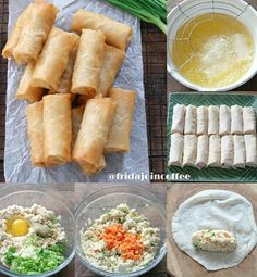 Vegan Recipes, Snack Recipes, Cooking Recipes, Snacks, Lumpia, Sr1, Traditional Cakes, Indonesian Food, Spring Rolls