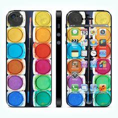 Виниловая наклейка для iPhone 5 Watercolors купить в интернет-магазине BeautyApple.ru.