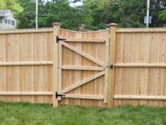 8 Handsome Tricks: Garden Fence Ideas Home Depot Wooden Fence With Lattice On Top.Modern Fence Boards Wooden Fence With Lattice On Top. Wood Fence Gate Designs, Wooden Fence Gate, Wood Privacy Fence, Fence Doors, Garden Doors, Fence Panels, Garden Fencing, Fence Ideas, Gate Ideas