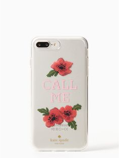 needlepoint call me iPhone 7 plus case | Kate Spade New York