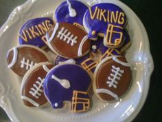 Vikings Football Cookies