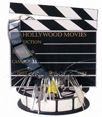 """The Hollywood VIP party theme can make any party feel like a VIP room! This Light Action Spray 18"""" Centerpiece adds a decorative accent to your party."""