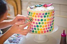 Rainbow Butterfly Birthday Cake Tutorial