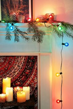 Globe Bulb String Lights Urban Outfitters : Christmas Inspiration on Pinterest Holiday Photo Cards, Christmas Trees and Holiday Ideas