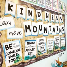 Teachers are you looking for kindness ideas to decorate your door, bulletin board, or elementary school hallway? Add these kindness quote reflection a. Hallway Bulletin Boards, Counseling Bulletin Boards, Kindness Bulletin Board, Elementary Bulletin Boards, Bulletin Board Letters, Back To School Bulletin Boards, School Counseling, Elementary Schools, Preschool Bulletin