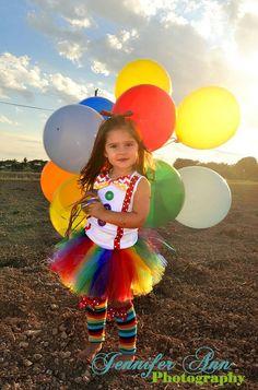 Rainbow Shirt Clown Costume Clown Birthday by BailynnBouNique, $58.95