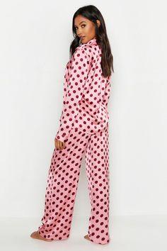 Pink Silk Pajamas, Satin Pajamas, Satin Pj Set, Cute Sleepwear, Pj Sets, Pajamas Women, Pajama Set, Lounge Wear, Boohoo