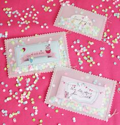 Konfetti- Umschläge basteln http://blog.sulky-international.com Diy Birthday Invitations, Birthday Diy, Birthday Parties, Handmade Gifts, Diy Gifts, Pinterest Diy, Special Gifts, Cute Gifts, Gifts For Kids