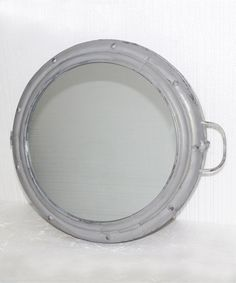 Look at this Gray Metal Porthole Mirror Cabinet on #zulily today!