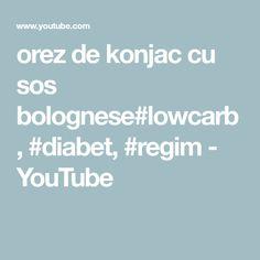 orez de konjac cu sos bolognese#lowcarb, #diabet, #regim - YouTube Bolognese, Diabetes, Youtube, Dukan Diet, Youtubers, Youtube Movies