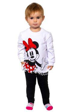 Sweatsuit Minnie Mouse Black & White Disney Babys, Baby Disney, Minnie Mouse, Sport, Kind Mode, Hoodies, Sweatshirts, Kids Fashion, Fashion Dresses
