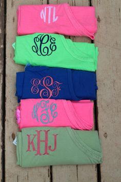 I want the green one with the navy writing, right down to it having my exact monogram!!!!