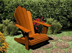 Adirondack Chair Plans - Furniture Plans