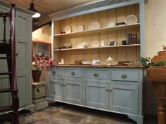 Buy Hand Crafted Kitchen Dresser for just from Wilsons Conservation Building Products. We are recognised as one of the United Kingdom and Ireland`s premier architectural salvage and design business. Country Kitchen, New Kitchen, Kitchen Ideas, Kitchen Taps, Kitchen Inspiration, Door Furniture, Painted Furniture, Furniture Ideas, Kitchen Dresser