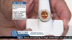 Tune into the most exquisite jewelry on television 24/7! New jewelry arriving daily – Blue Sapphire Necklaces, Red Ruby Rings, Green Emerald Earrings, Yellow Diamond Bracelets and more stunning jewelry at Gem Shopping Network. Call in for pricing. Item #181-175120 Garnet And Diamond Ring, Garnet Rings, Garnet Gemstone, Gemstone Colors, Gemstone Rings, Blue Sapphire Necklace, Emerald Green Earrings, Gem Shop, Ruby Rings